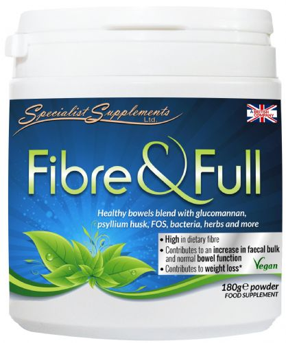 Fibre & Full 180g powder, Combination High-Fibre Bowel Cleanser & Weight Loss Support